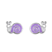 Sterling silver Enamelled Snail Stud Earrings